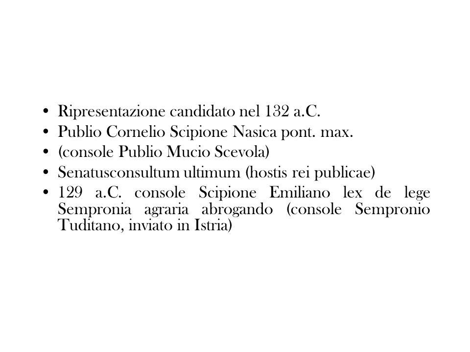 Ripresentazione candidato nel 132 a.C.