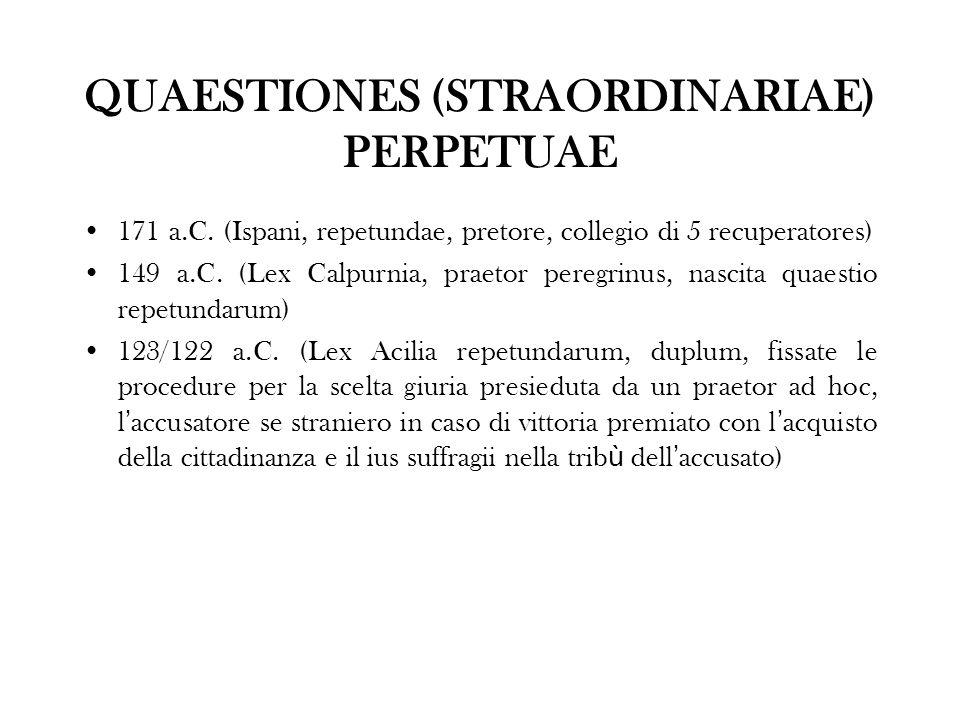 QUAESTIONES (STRAORDINARIAE) PERPETUAE