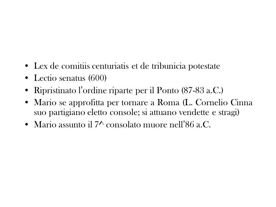Lex de comitiis centuriatis et de tribunicia potestate