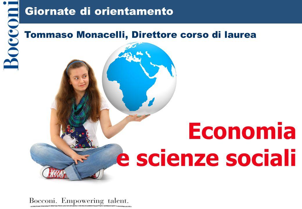 Economia e scienze sociali Giornate di orientamento