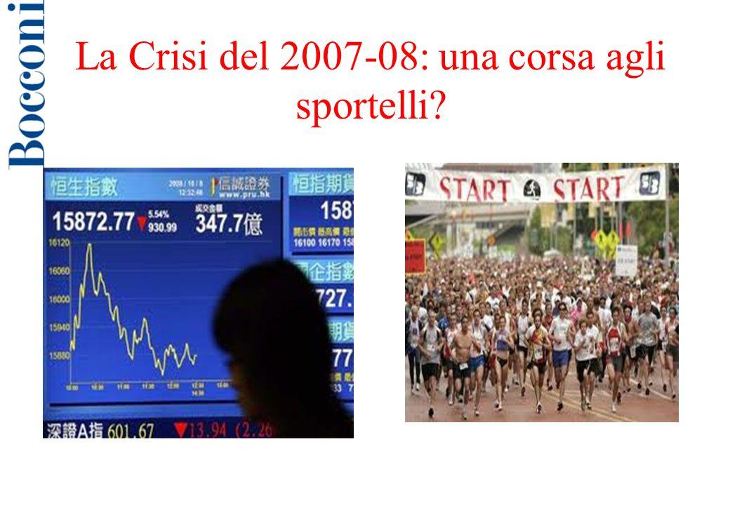La Crisi del 2007-08: una corsa agli sportelli