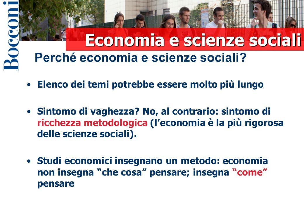 Economia e scienze sociali