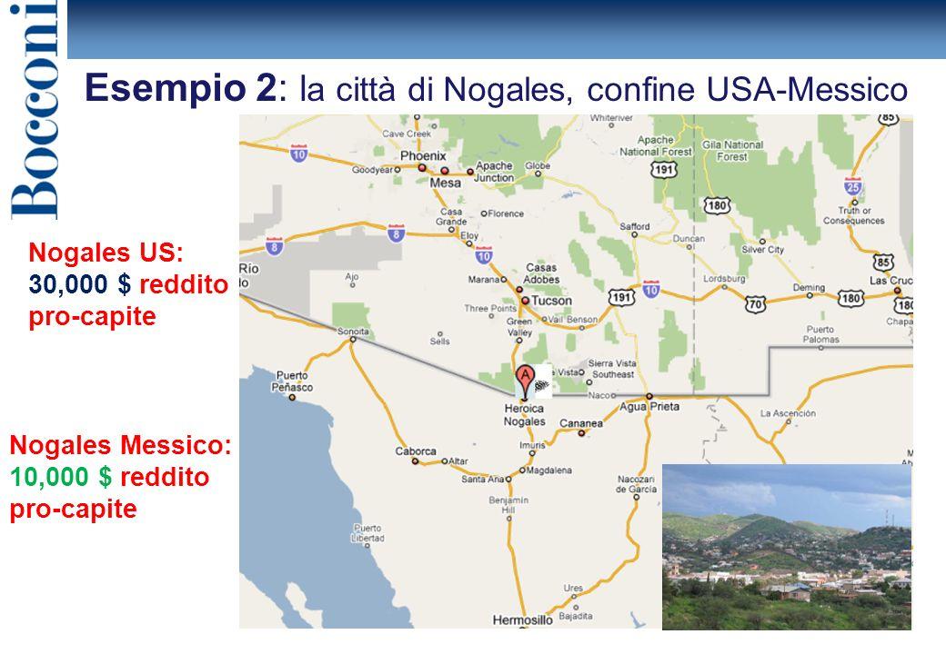 Esempio 2: la città di Nogales, confine USA-Messico