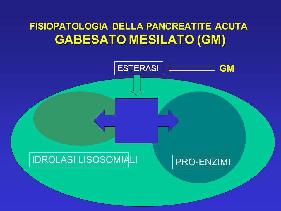 FISIOPATOLOGIA DELLA PANCREATITE ACUTA GABESATO MESILATO (GM)