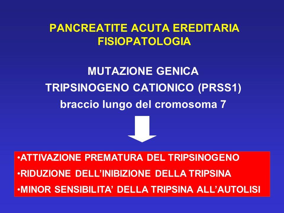 PANCREATITE ACUTA EREDITARIA FISIOPATOLOGIA