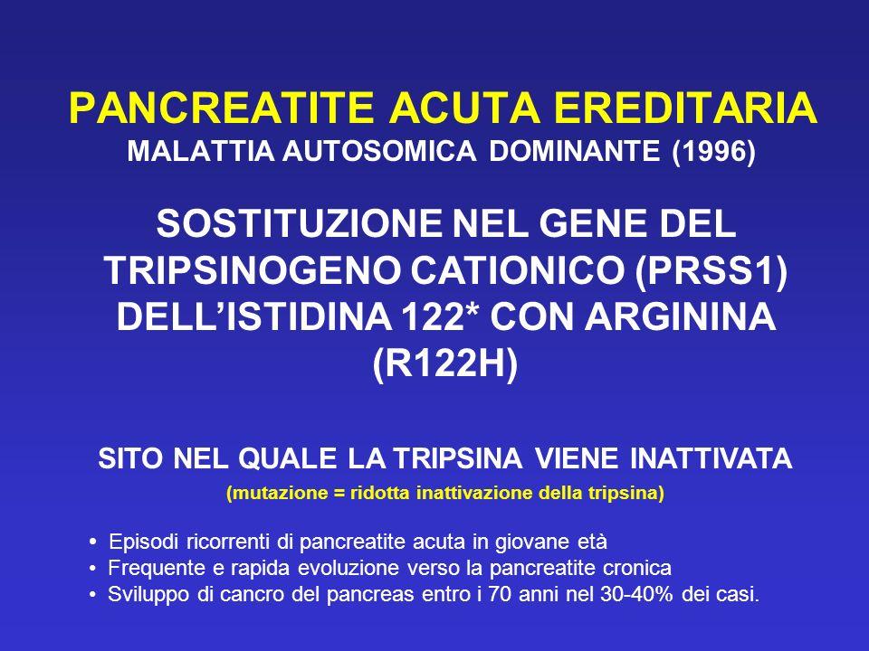 PANCREATITE ACUTA EREDITARIA MALATTIA AUTOSOMICA DOMINANTE (1996)