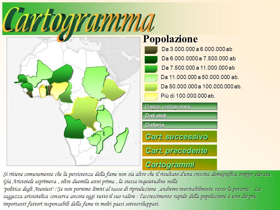 Cartogramma Popolazione Cart. successivo Cart. precedente Cartogrammi