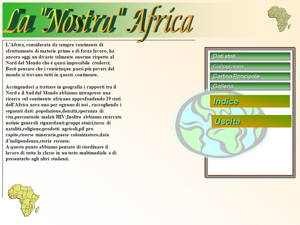 La Nostra Africa Indice Uscita Dati stati Cartina Principale