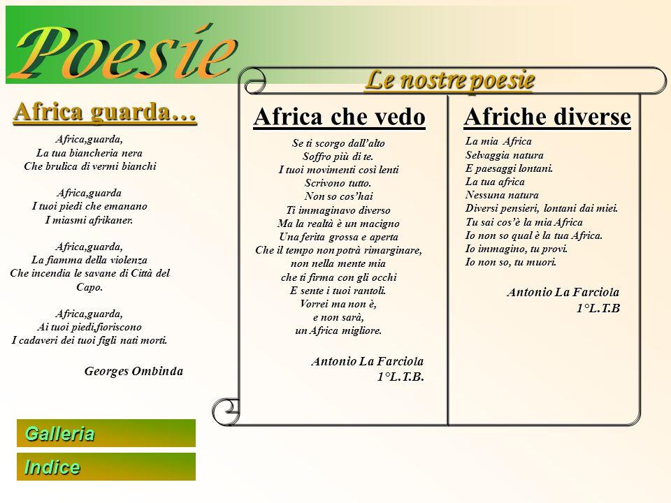 Poesie Le nostre poesie Africa guarda… Africa che vedo Afriche diverse