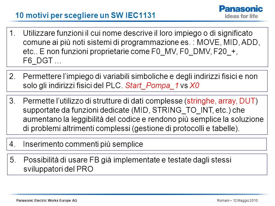 10 motivi per scegliere un SW IEC1131