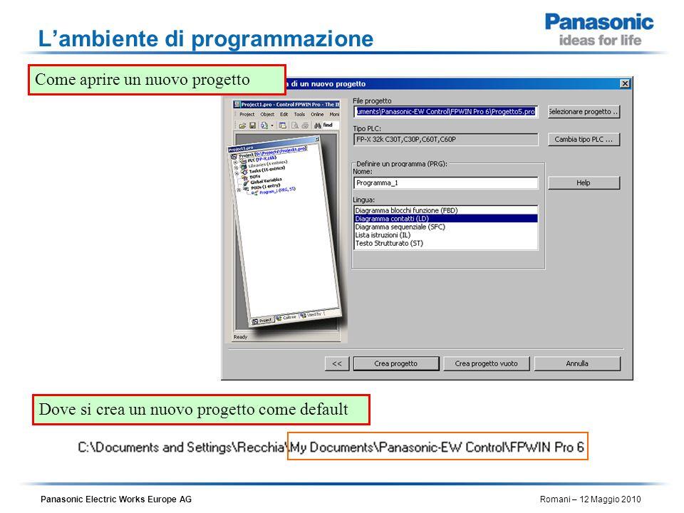 L'ambiente di programmazione