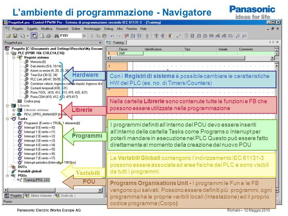 L'ambiente di programmazione - Navigatore