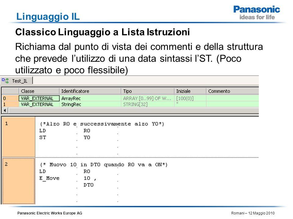 Linguaggio ILClassico Linguaggio a Lista Istruzioni.