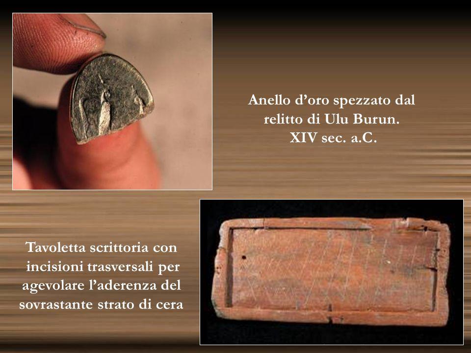 Anello d'oro spezzato dal relitto di Ulu Burun. XIV sec. a.C.