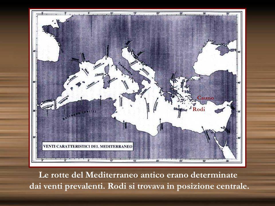 Le rotte del Mediterraneo antico erano determinate