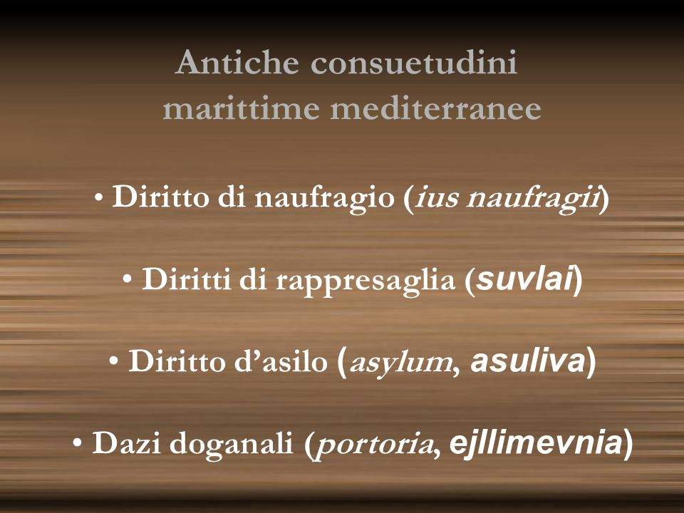 Antiche consuetudini marittime mediterranee