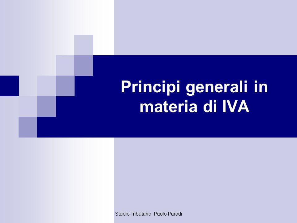 Principi generali in materia di IVA