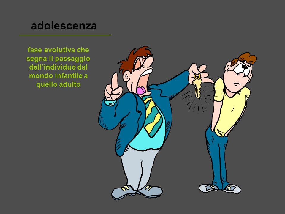adolescenza fase evolutiva che segna il passaggio dell'individuo dal mondo infantile a quello adulto.