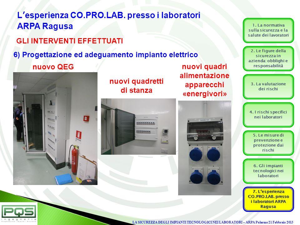 L'esperienza CO.PRO.LAB. presso i laboratori ARPA Ragusa