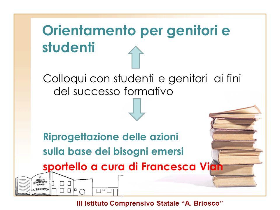 Orientamento per genitori e studenti