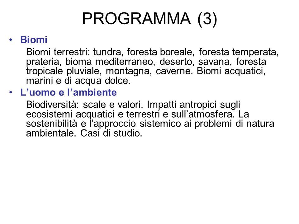 PROGRAMMA (3) Biomi.