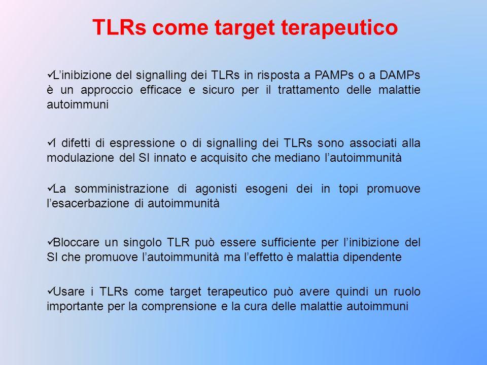 TLRs come target terapeutico