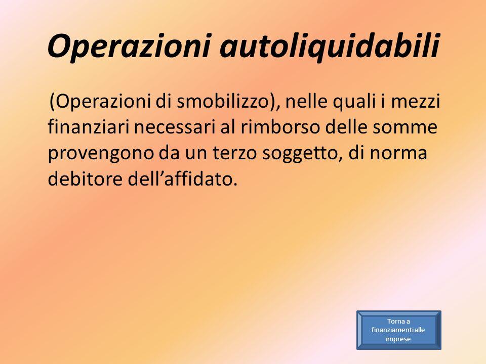Operazioni autoliquidabili