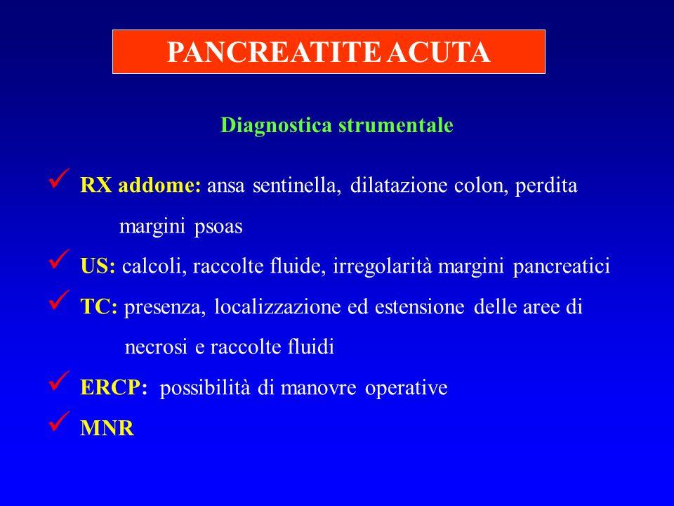 PANCREATITE ACUTA Diagnostica strumentale
