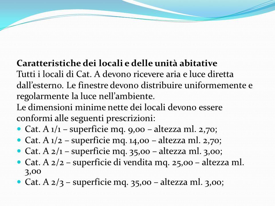 Caratteristiche dei locali e delle unità abitative