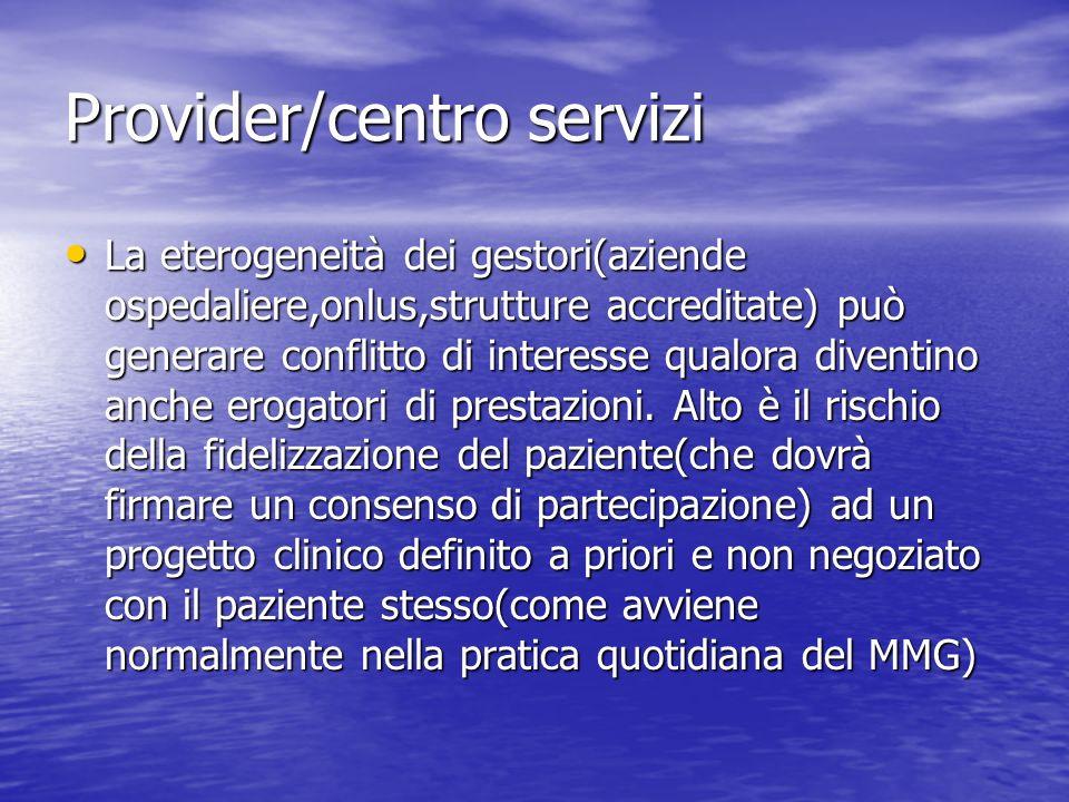 Provider/centro servizi