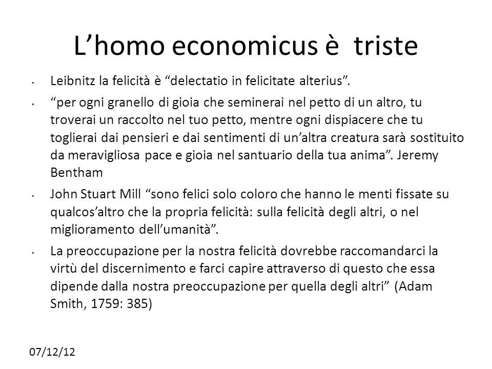 L'homo economicus è triste
