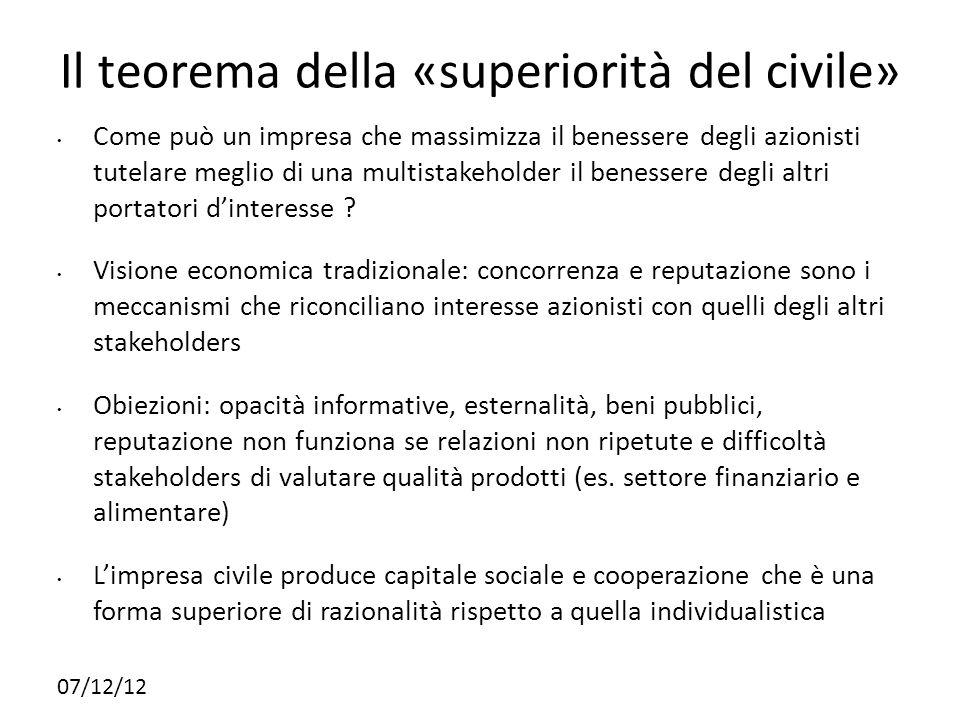 Il teorema della «superiorità del civile»