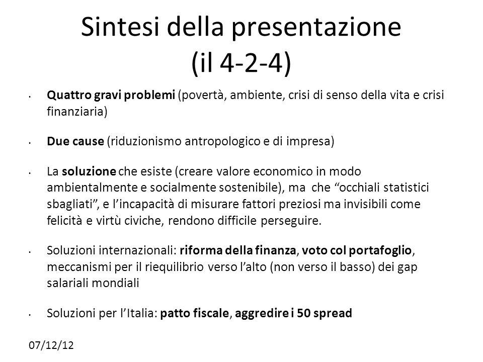 Sintesi della presentazione (il 4-2-4)