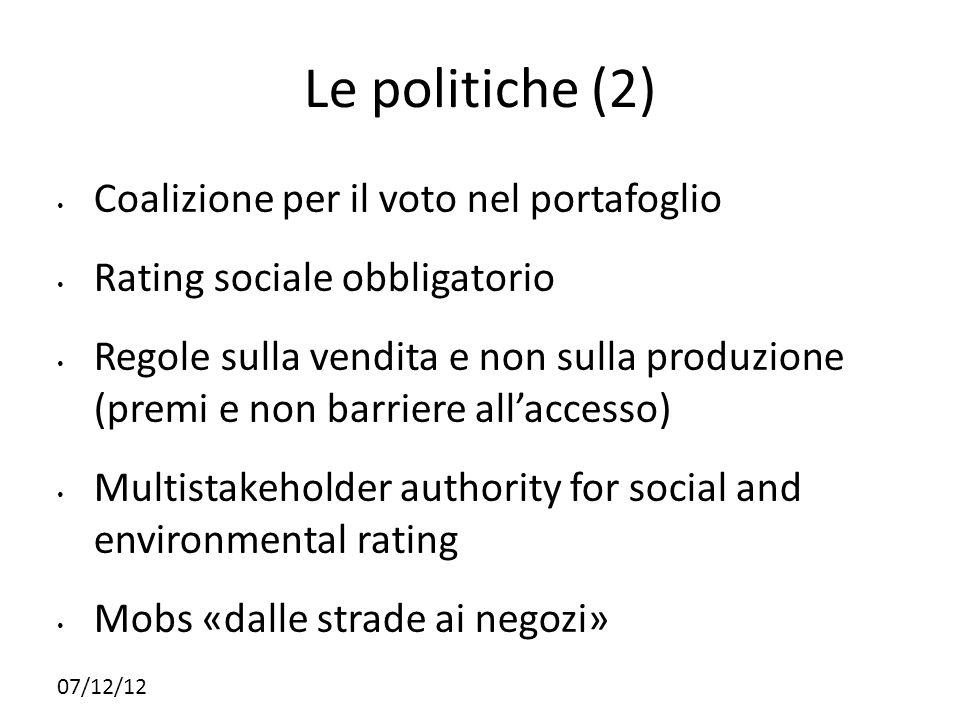 Le politiche (2) Coalizione per il voto nel portafoglio