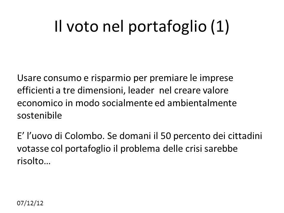 Il voto nel portafoglio (1)