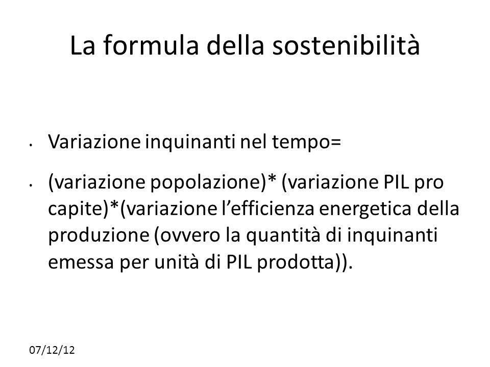 La formula della sostenibilità