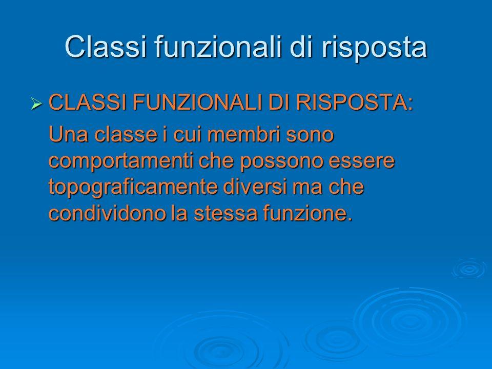 Classi funzionali di risposta