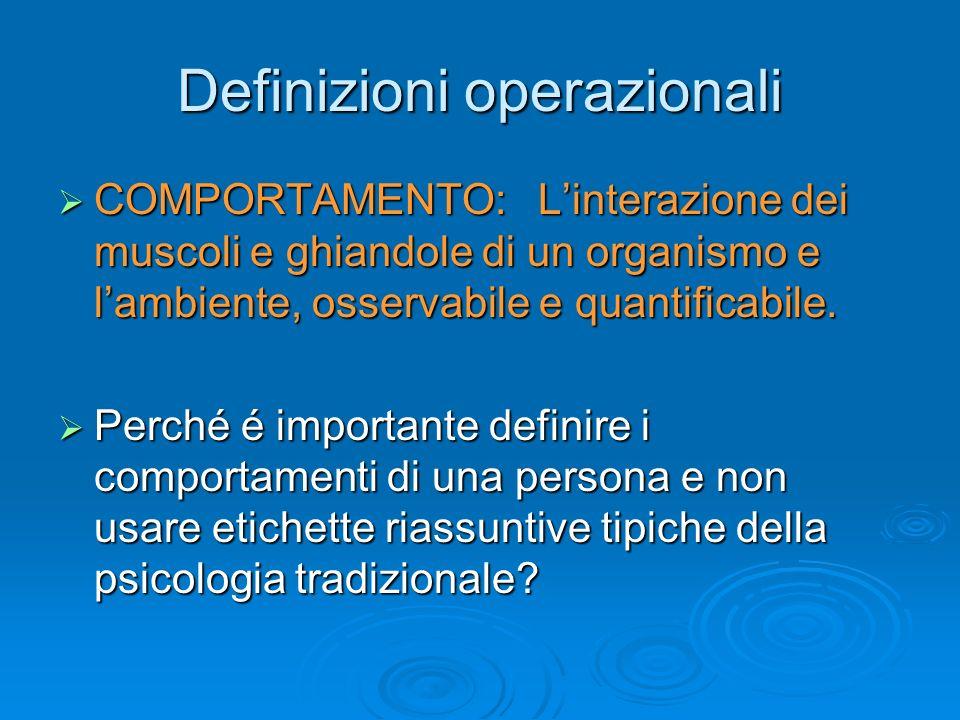 Definizioni operazionali