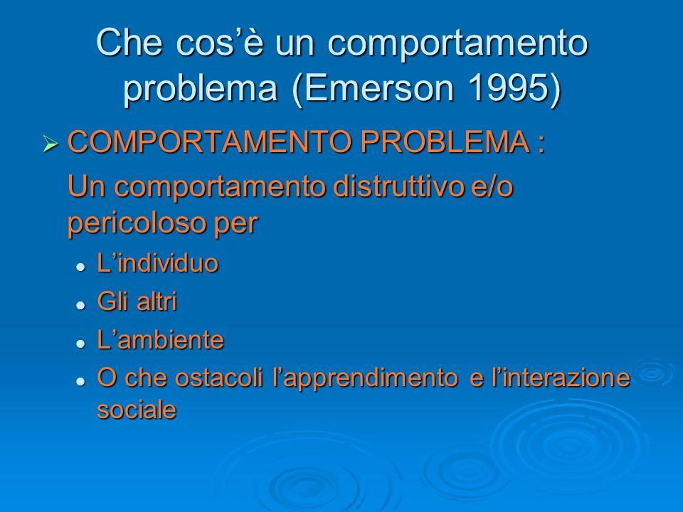 Che cos'è un comportamento problema (Emerson 1995)
