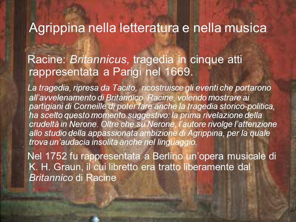 Agrippina nella letteratura e nella musica