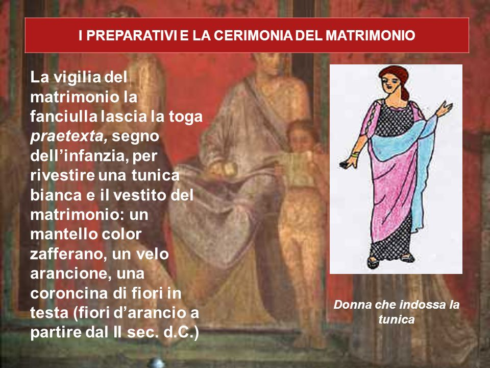 I PREPARATIVI E LA CERIMONIA DEL MATRIMONIO