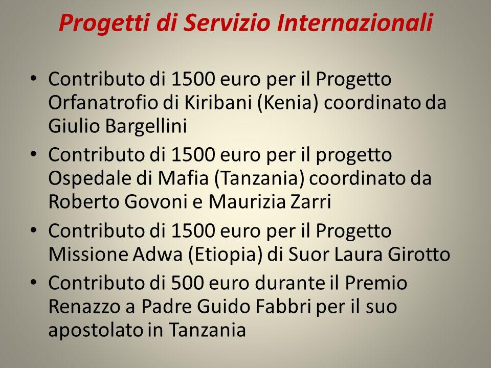 Progetti di Servizio Internazionali