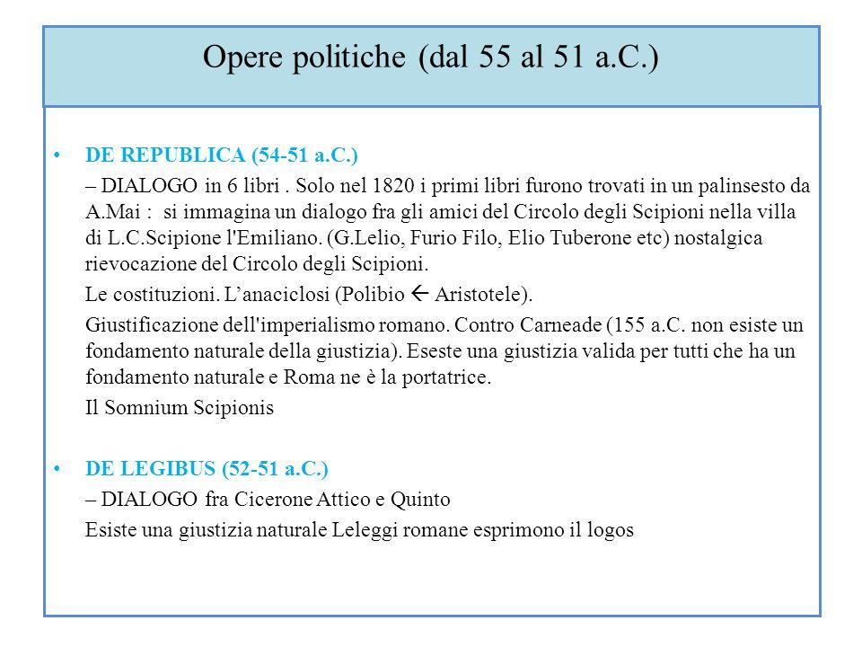 Opere politiche (dal 55 al 51 a.C.)