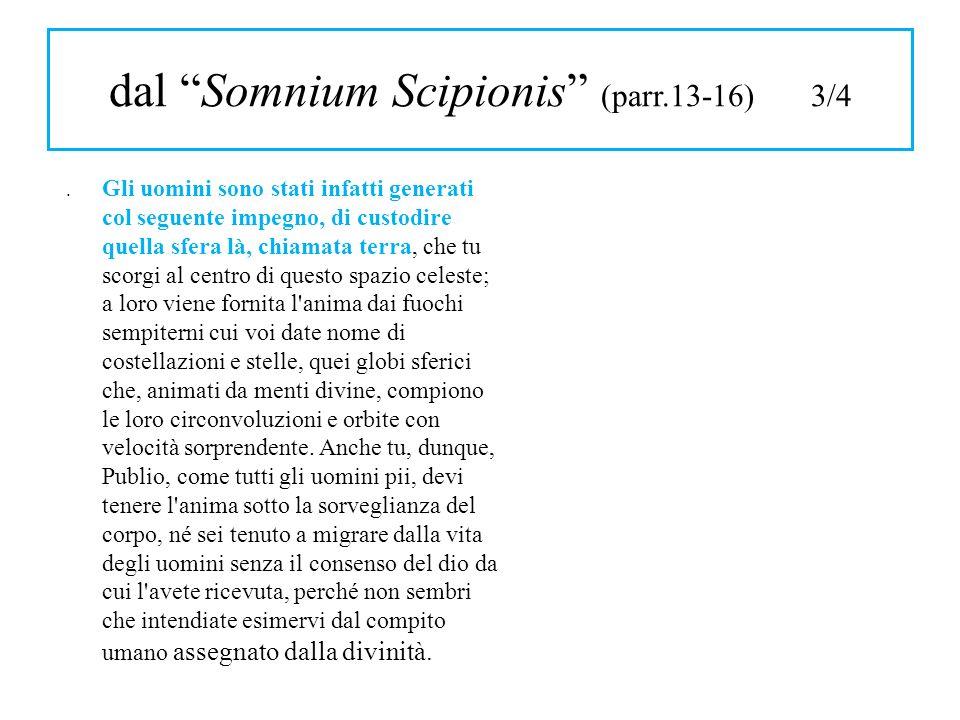 dal Somnium Scipionis (parr.13-16) 3/4