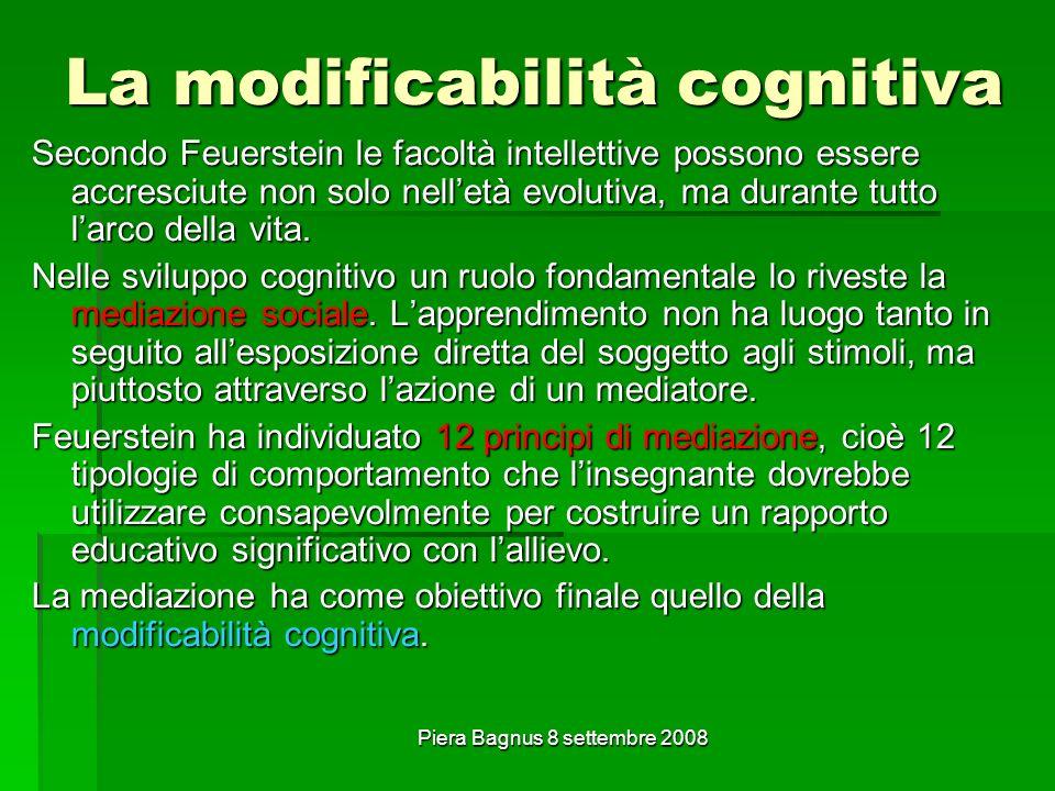 La modificabilità cognitiva