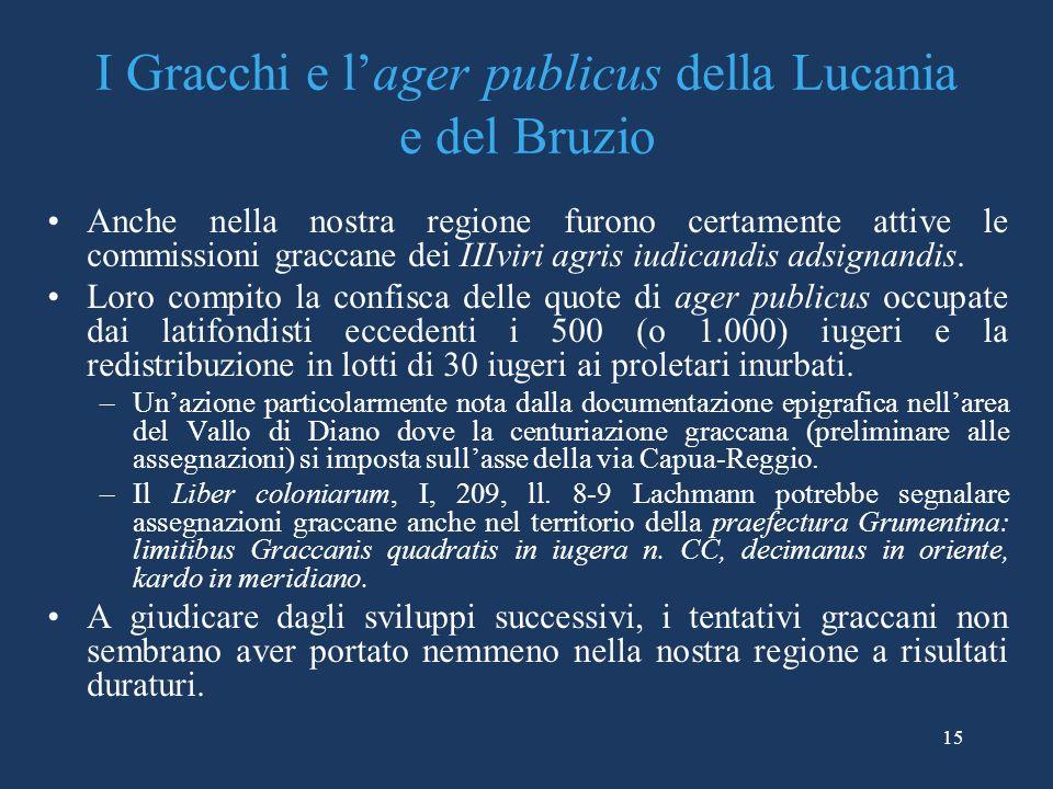 I Gracchi e l'ager publicus della Lucania e del Bruzio