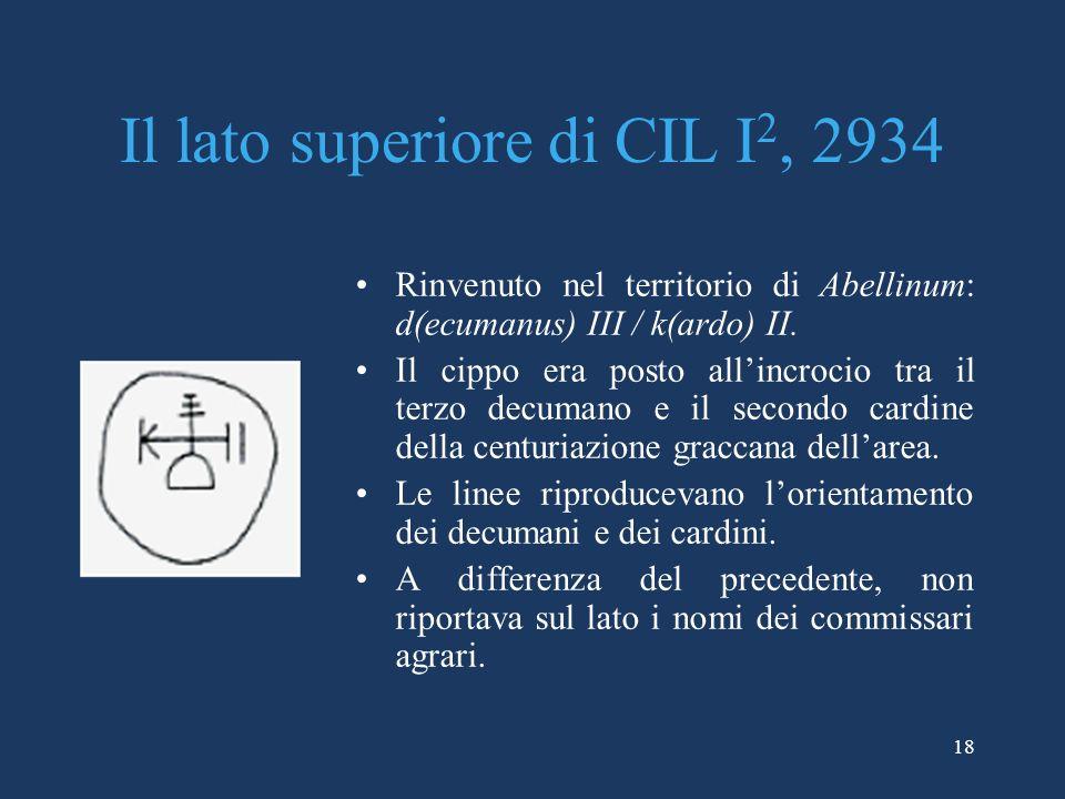 Il lato superiore di CIL I2, 2934