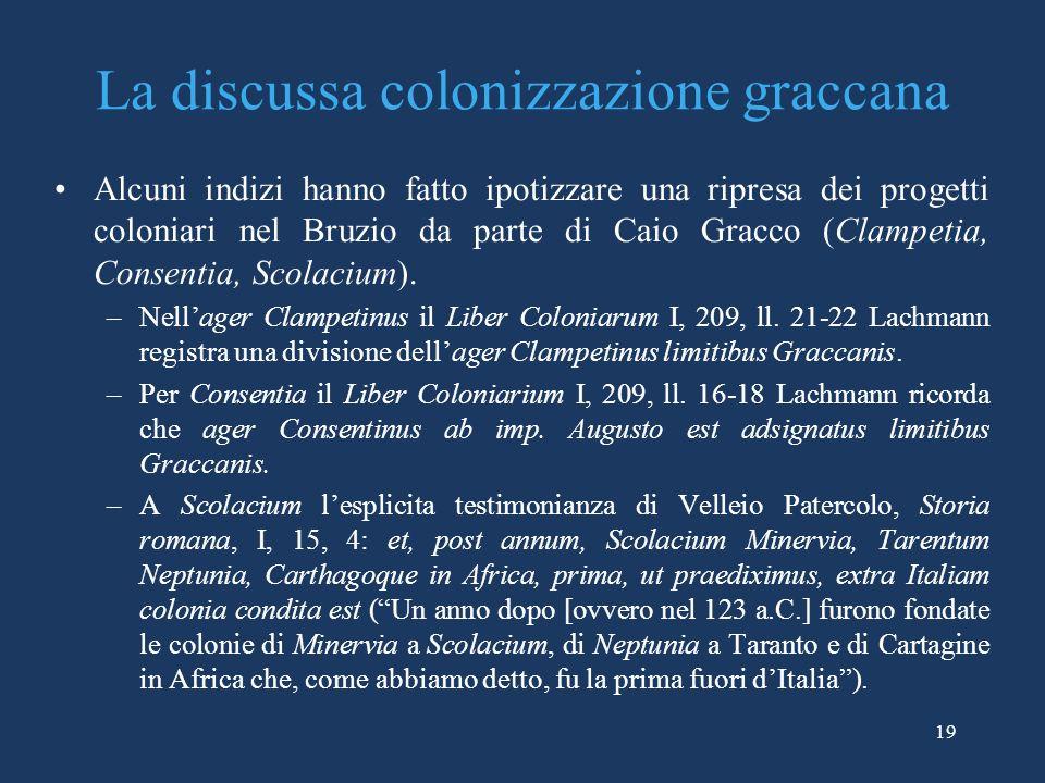 La discussa colonizzazione graccana