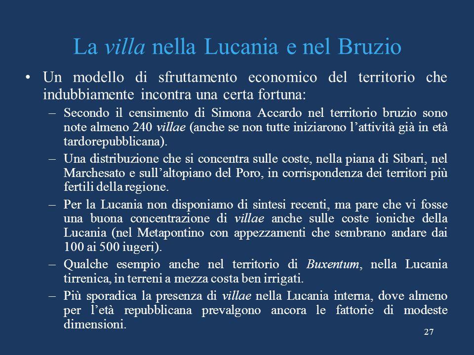 La villa nella Lucania e nel Bruzio