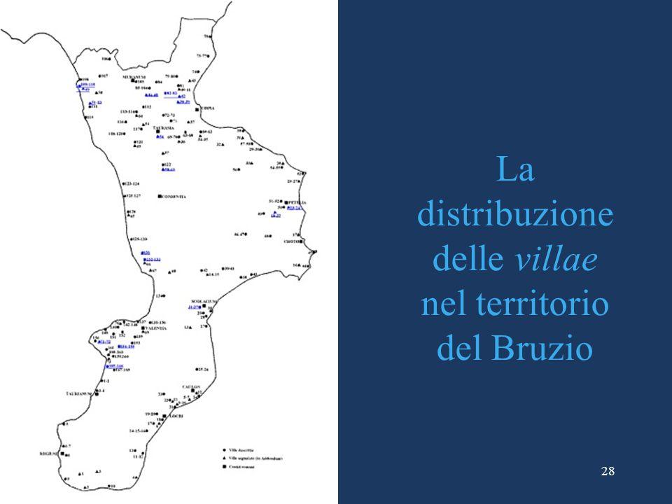 La distribuzione delle villae nel territorio del Bruzio